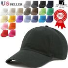 Plain Cotton baseball Cap Washed Low Profile  Denim Baseball Dad Hat Cap 1155