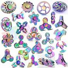 Mix Rainbow Metal Tri Fidget Hand Spinner Finger Toy EDC Focus ADHD Autism USPS