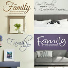 Family Quote Wall Stickers! Vinyl Transfer Home Graphics Decal Decor Art Stencil