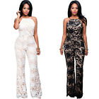 Womens Lace Clubwear Bodycon Party Jumpsuit Plsysuit Romper Long Trousers Pants