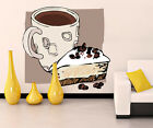 Coffe Cake Food Kitchen Full Color Wall Decal Sticker KR 114 FRST