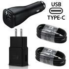 OEM Samsung Galaxy S8 S9 Plus S10 Note 8 Fast Wall&Car Charger USB Type-C Cable