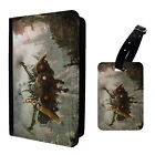 Steampunk Ship Printed Luggage Tag & Passport Holder - T2703