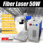 MCWlaser 50W Fiber Laser Marking Machine & Rotary Engraving Steel Metal CE/FDA