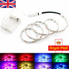 UK RGB LED Strip Lights 5V Battery Box Powered Multi-color with Mini Controller