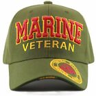 Official Licensed Military 3D Embroidered Logo Veteran Cap-Marine