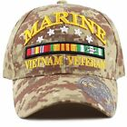 Official Licensed 3D Vietnam Veteran Ribbon Logo Cap-Marine