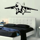MILITARY FIGHTER JET Wall art sticker huge removable vinyl uk Wall decal ne49