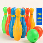 Fun Kids Child Colored Plastic 10 Pins Bowling Game Toy Set + Two Balls Gift