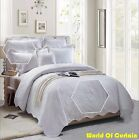 Bedspread 3 Piece Embroider Bedding Throw Bedroom ++ 2 Pillow Single Double King