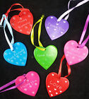 FAIR TRADE Soapstone hearts ornament BIRTHADAY ANNIVERSARY GOOD LUCK etc New
