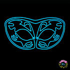 Glowing Stag Pattern Mask - Carnival festival - Sound Activated - With Driver