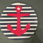 """Anchor or Lobster Nautical Placemats Set of 4 100% Cotton 15"""" Round NEW"""