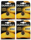 4 x DURACELL DL/CR 2032 3V Lithium Coin Cell Battery Batteries EXPIRY 2025