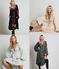 Boho Womens V Neck Embroidery Floral Dress Casual Loose Fit Fashion Ball Gown K2