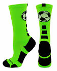 Soccer Ball Crew Socks Ball Girls Boys Logo Team Elite Fun Funky Sports Athletic