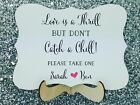 Personolised Wedding Blankets Sign, Rustic / Shabby Chic