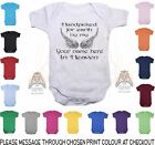 HANDPICKED FOR EARTH BY (YOUR NAME) IN HEAVEN WHITE OR COLOURED BABY VEST