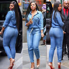 Casual Women's Bodycon Jumpsuit Jeans Denim Rompers Overalls Trousers Pants