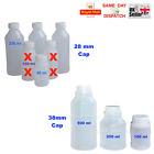 PLASTIC BOTTLES 250 - 500ml HDPE WITH CAP WHITE MULTIAUCTION LATEX RESIN TRAVEL