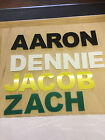 KIDS NAMES IN PERSPEX ACRYLIC COLOURED FLAT CUT LETTER 150mm HIGH ALPHABE