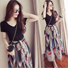 New Women BOHO Evening Party Cocktail Prom Floral Summer Beach Dress