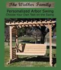NEW PERSONALIZED COLONIAL ARBOR, 5 FOOT SWING W CUSTOM NAME/PHRASE, HANGING ROPE