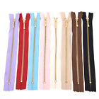 Metal Bronze Teenth Nylon Fabric Zippers10 Colors For Bags Craft Sewing fo