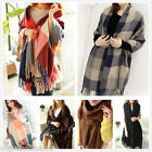 Women Plaid Checks Tartan Long Soft Warm Winter Wrap Pashmina Stole Shawl Scarf