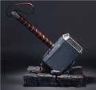 US! 1:1 Full Solid Avengers Thor Hammer Replica Prop Mjolnir Resin Base Cosplay