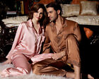 19MM Pure Heavy Weight Silk Couple's Embroied Pajamase Set for Women X8269