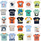 Boys Kids Casual Various Pj Short Sleeve Cartoon T shirts Tops clothes 2-6 Years