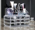 Clear Acrylic Cosmetic Organiser Makeup Nail Varnish Jewellery Box Display Stand