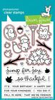 Jump for Joy -Clear Stamps LF1212 OR Craft Dies LF1213-Lawn Fawn Owl Leaves Fall