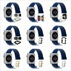 New Blue Milanese Stainless Metal Band Strap For Apple Watch 38mm with Case x1