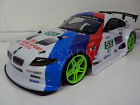 BMW Z4 LARGE 4WD DRIFT RC REMOTE CONTROL CAR 1/10 RECHARGEABLE BLUE WHITE