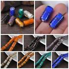 5Pcs 20x10mm Cylindrical Lampwork Glass Loose Beads Jewelry Findings DIY Crafts