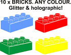 10 X LEGO BRICK WALL STICKERS FOR BORDER BOYS BEDROOM NURSERY GIFT. Colours +