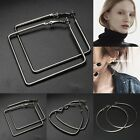 Fashion Simple Geometry Earring Square Stud Heart Circle Hoop Flower Jewelry