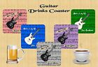 PERSONALISED MUSIC/GUITAR DRINKS COASTER BIRTHDAY CHRISTMAS PRESENT