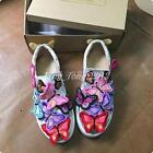 Womens Sneakers Embroidered Loafer Butterfly Flat Glitter Casual Trainer Shoes
