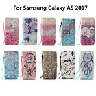 For Samsung Galaxy A5 2017 Newest 3D Painted Leather Wallet Phone Case Cover