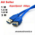 New 1m 1.5m 1.8m 3m USB 3.0 Extension SuperSpeed Data Cable Type male to Female