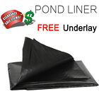 LDPE Heavy Duty 3-ply Pond Liner Lining All Sizes 50 Year Guarantee Garden