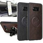Shockproof Thin Luxury Leather Back Case Cover For Samsung Galaxy S8 S8+ Plus