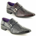 Mens Leather Lined Patent Pointed Shiny Party Dress Formal Shoes UK Sizes 6-11