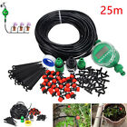 25m Manual/Automatic Drip Irrigation System Plant kit Watering DIY Lawn Hoses♯
