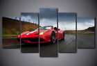 Framed Picture Canvas Prints Red Cabriolet Ferrari Supercar Cars Wall Art Decor