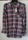 Rue21 Women's Purple Pink Plaid Button Up Size XS & S NWT Free Shipping!!!