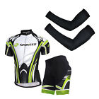 Cycling Jereys Sets Arm Warmers Bike T Shirt 3D GEL Padded Shorts Breathable